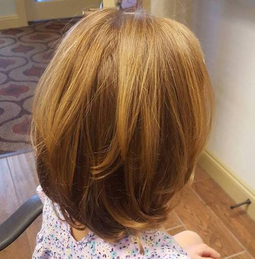 Long Layered Honey Blonde Bob