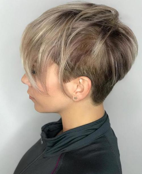 Short Haircut With Long Layers