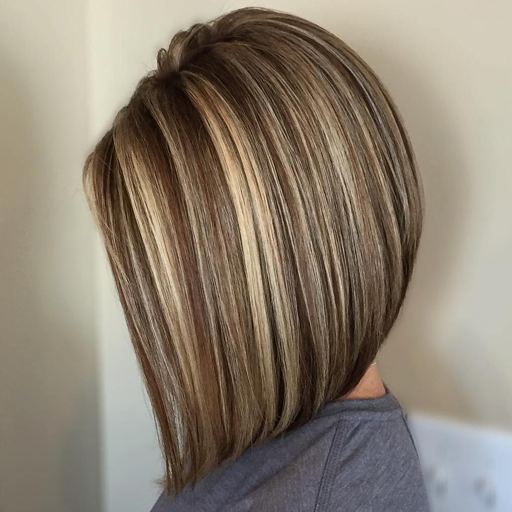 Brown Lob With Blonde Highlights & 50 Light Brown Hair Color Ideas with Highlights and Lowlights