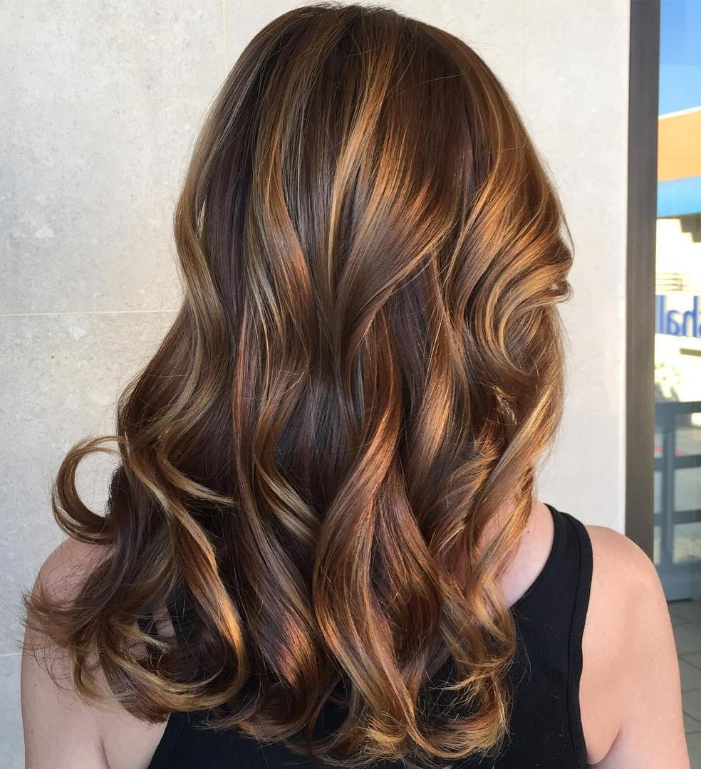 2019 year looks- Brown Light hair with copper highlights