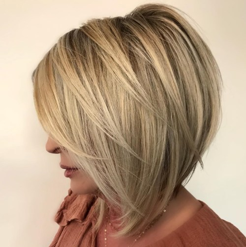Inverted Bob with Angled Layers