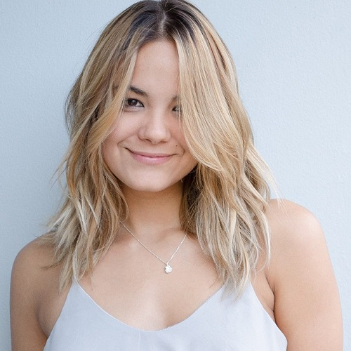 Mid Length Layered Blonde Haircut