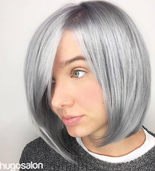 Sleek Gray Bob