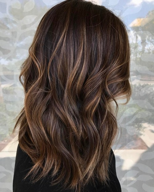 Blonde Babylights For Brown Balayage Hair