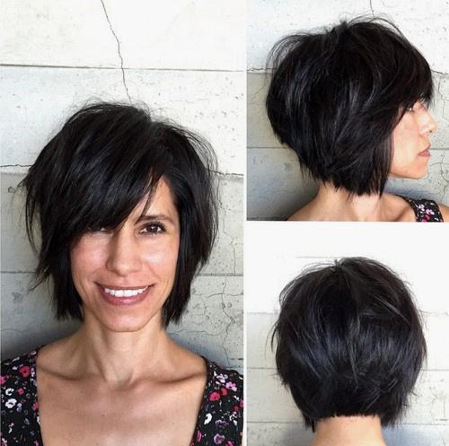 60 Short Choppy Hairstyles For Any Taste Choppy Bob Layers Bangs