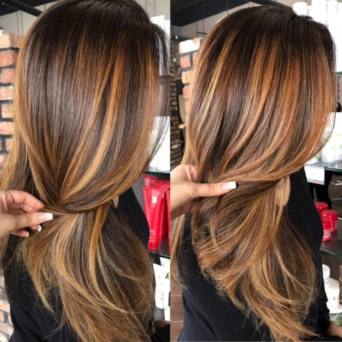 Copper Balayage For Brunette Hair