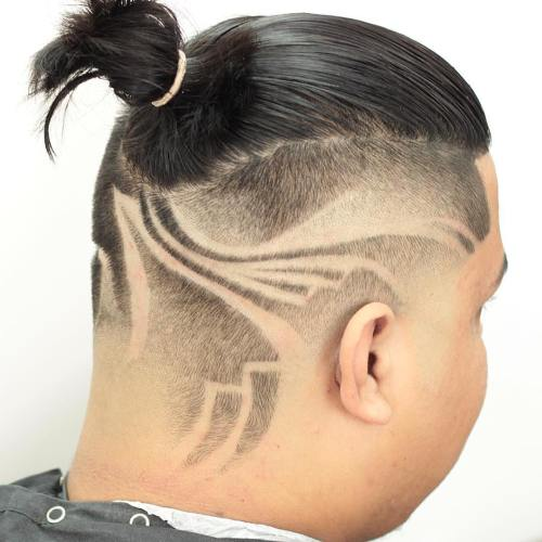 Half Shaved Men's Hairstyle