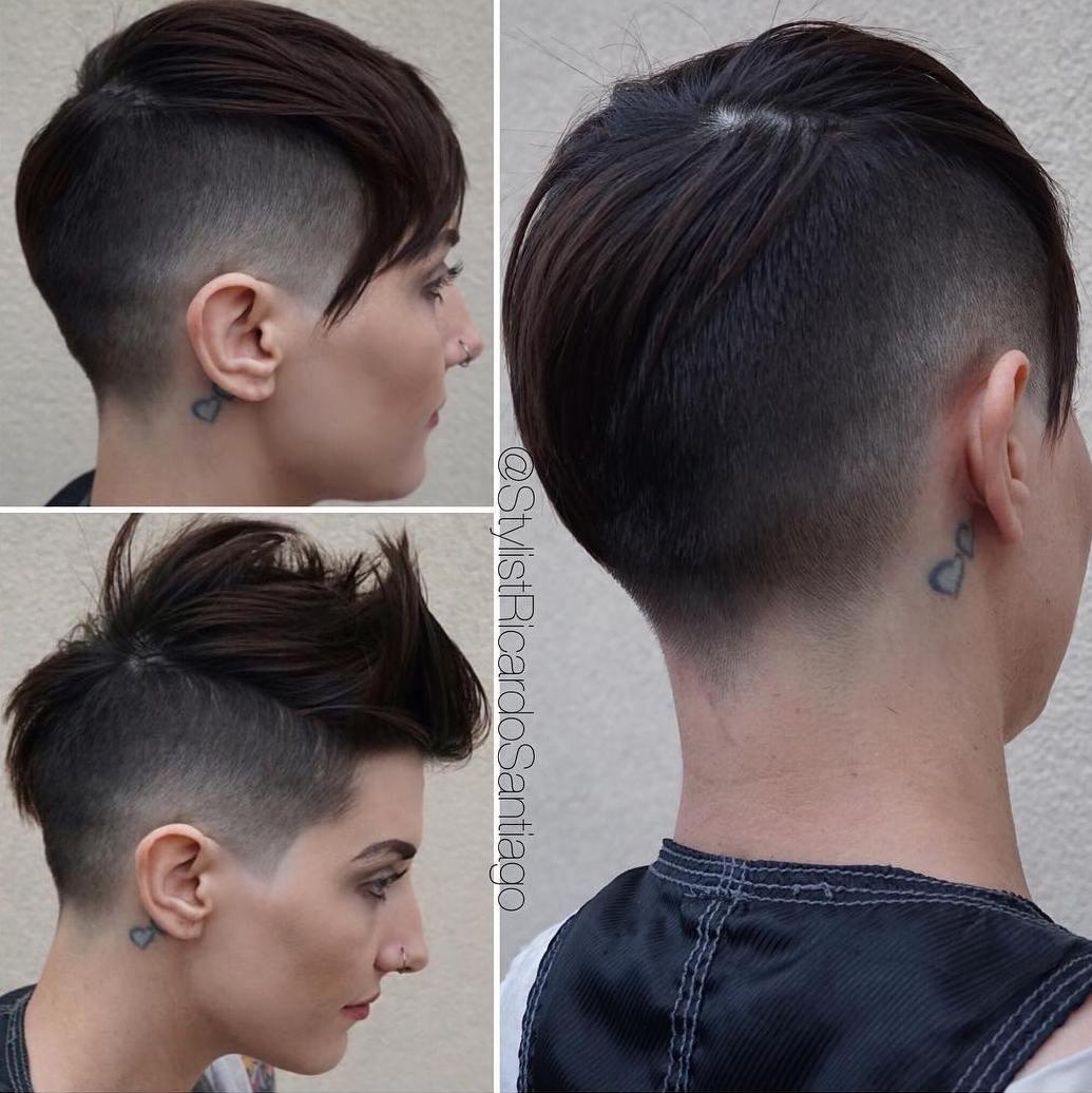Asymmetrical Fade For Women