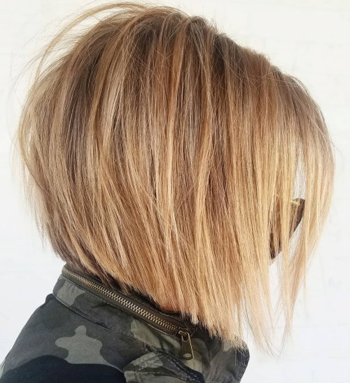 Blunt Angled Wheat Blonde Bob