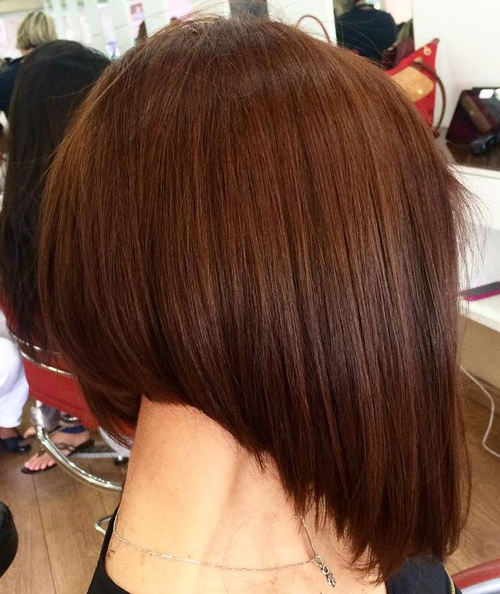 Brown Steeply Angled Bob