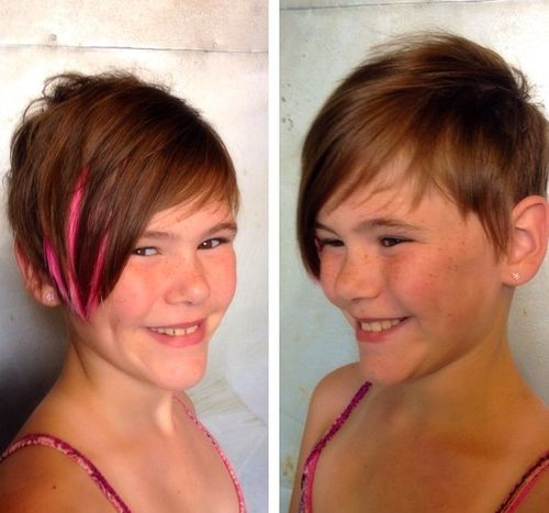 short asymmetric pixie haircut for girls
