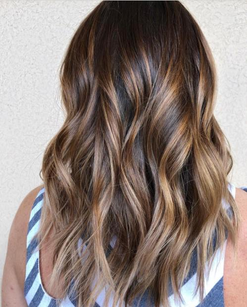 Golden And Ash Brown Balayage
