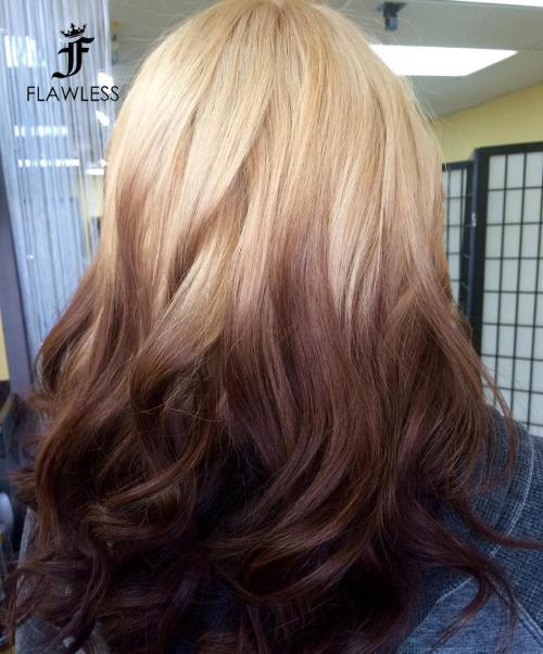 Reverse Blonde To Brown Ombre