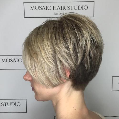 Short Choppy Blonde Balayage Hair