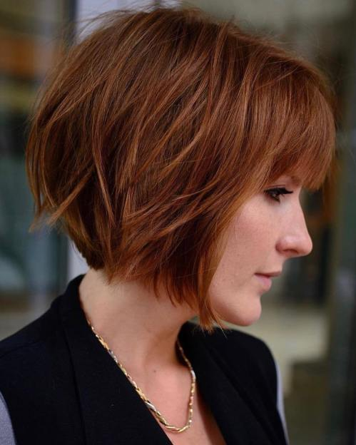 Timeless Sliced Bob With Bangs