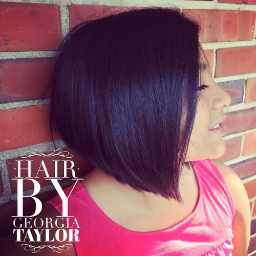 Angled Black Bob For Girls