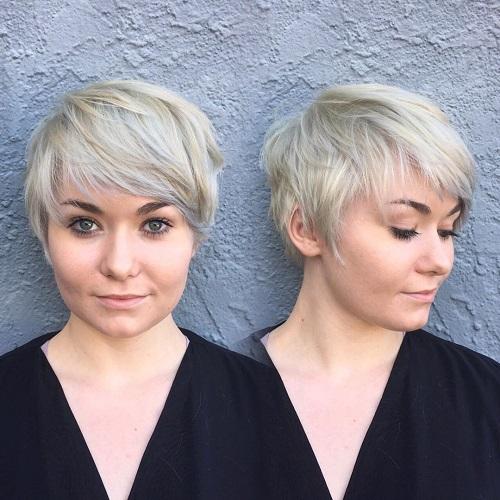 Ash Blonde Pixie