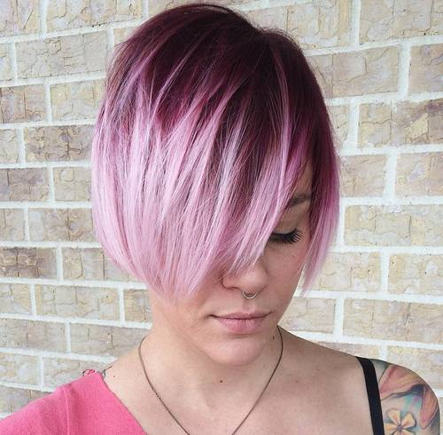 Plum Red Ombre Bob