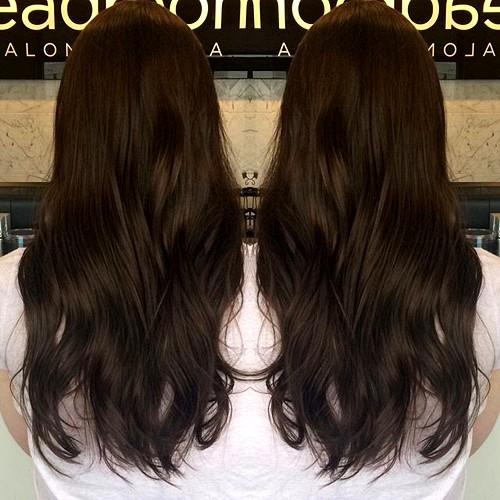 20 dark brown hair colour long hairstyles 2017 amp long