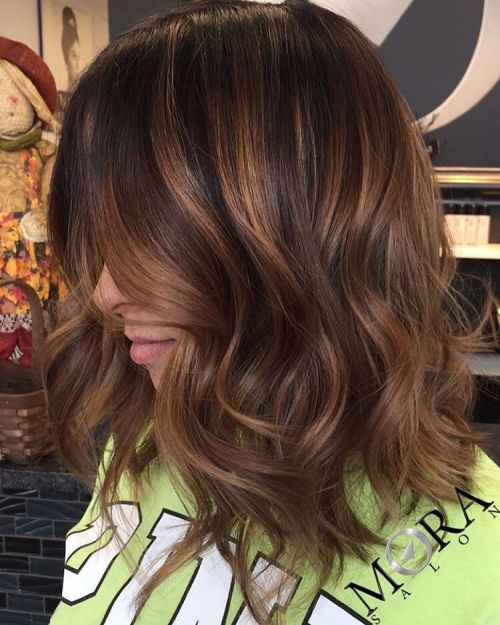 60 looks with caramel highlights on brown and dark brown hair wavy brown bob with caramel highlights pmusecretfo Choice Image