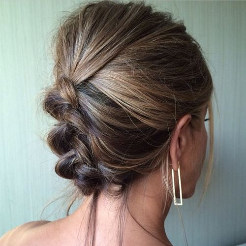 cute messy braided updo