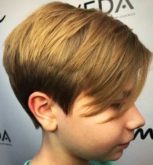 Layered Bronde Pixie For Girls