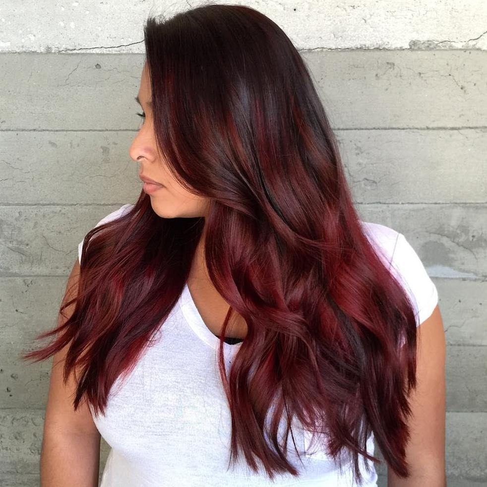 Maroon Ombre Hair