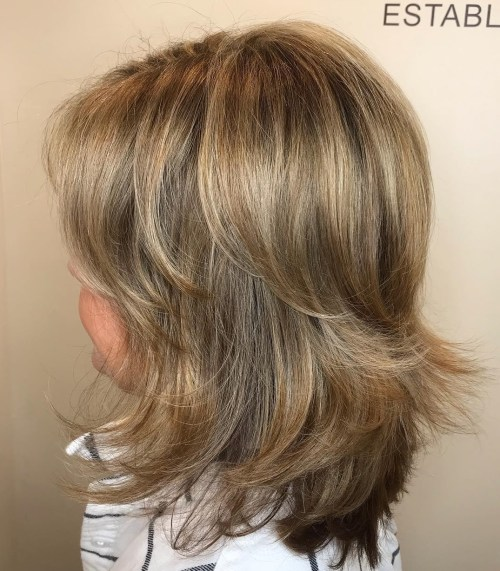 Medium-Length Bronde Shag
