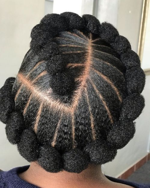 Natural African American Updo