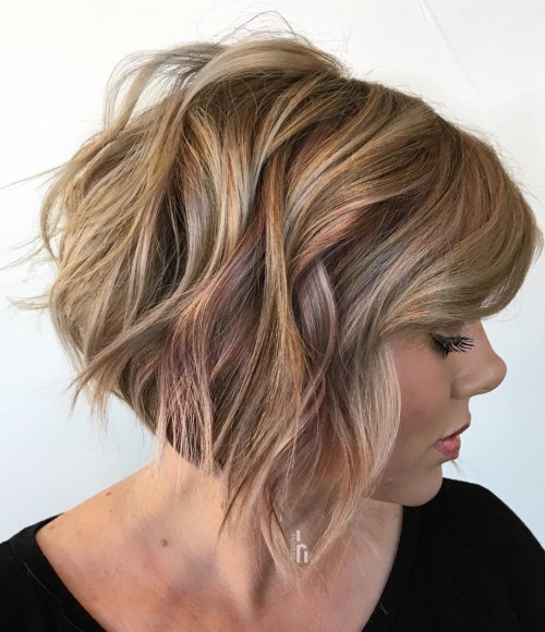 Wavy Bob With Bangs For Thick Hair