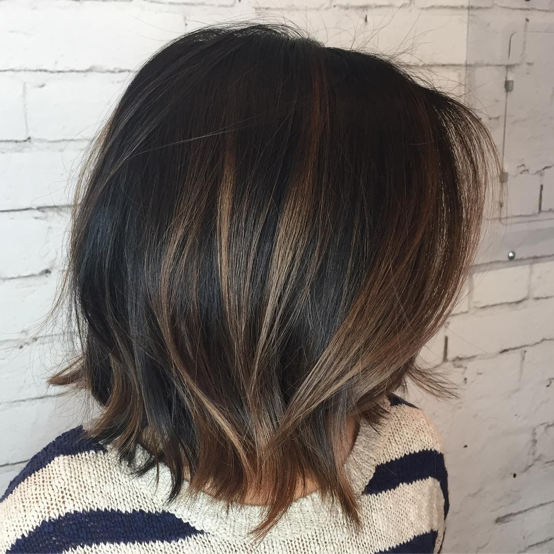 60 chocolate brown hair color ideas for brunettes black choppy bob with brown highlights pmusecretfo Images