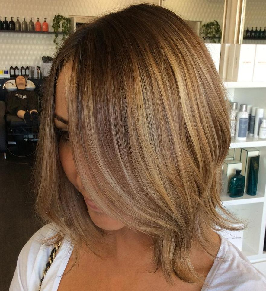 Brown Blonde Bob For Fine Hair & 45 Light Brown Hair Color Ideas: Light Brown Hair with Highlights ... azcodes.com