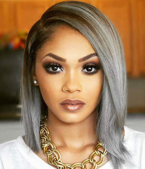 Gray Lob With Brown Roots