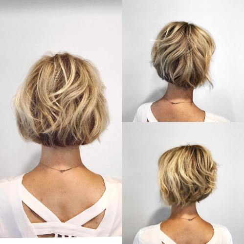Short Bob with Wavy Layers