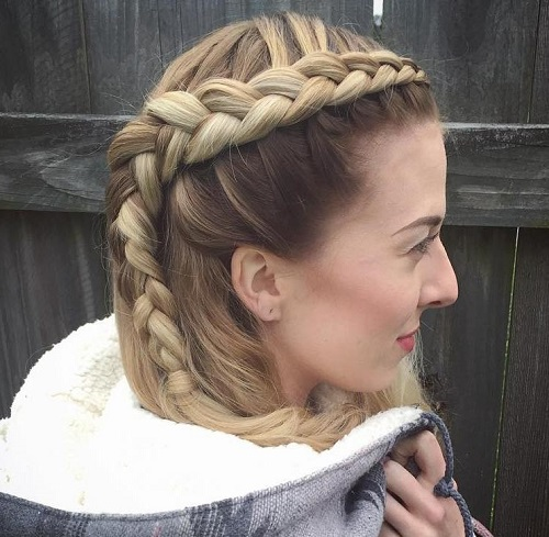 hairstyle with a side dutch braid