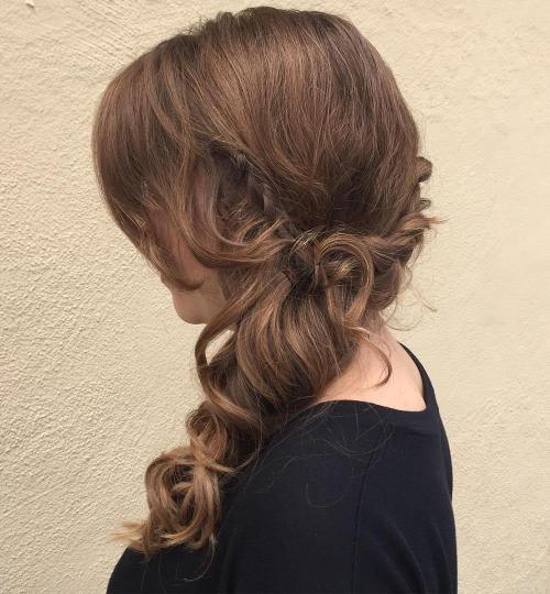 Side Hairstyle With Bangs