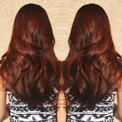 40 Scrumptious Vibrant Hues for Chocolate Brown Hair - photo#26