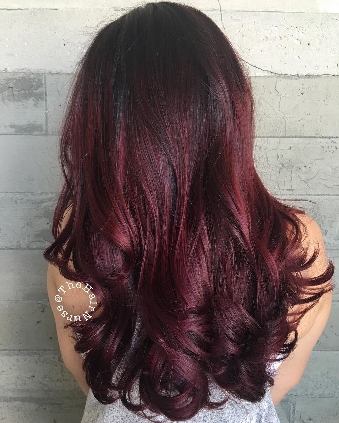 50 Shades Of Burgundy Hair Dark Red Maroon Red Wine