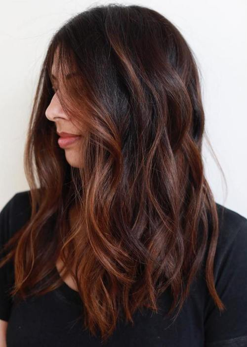 Long Chestnut Balayage Hair