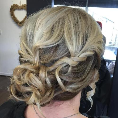 Side Curly Bun For Shorter Hair