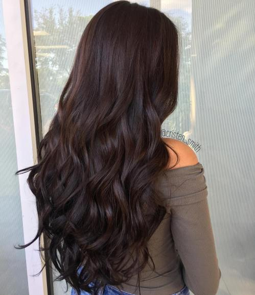 Curly Brown Hairstyle for Long Hair