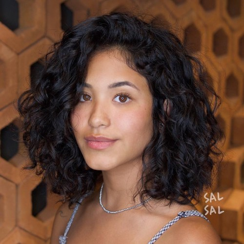 Medium Hairstyles For Curly Hair Girls 63