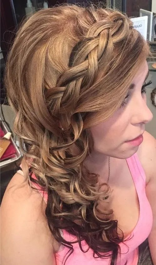 hair styles curls 45 side hairstyles for prom to any taste 7365