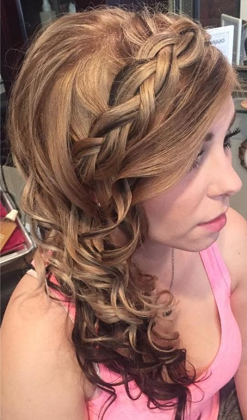 prom side curly hairstyle