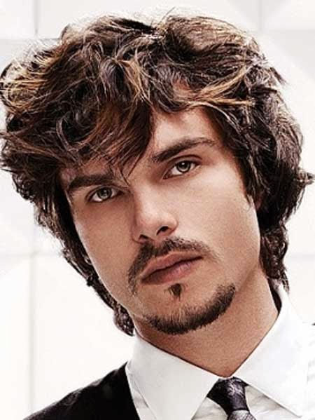 long curly hairstyle for men
