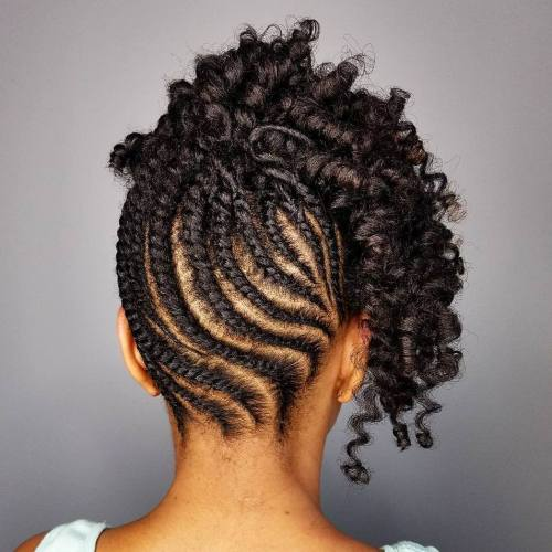 Flat Twists And Curls Updo For Natural Hair