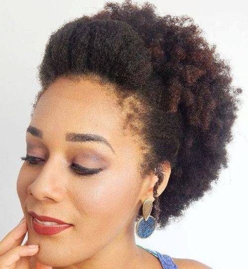 Afro Puff With Pompadour