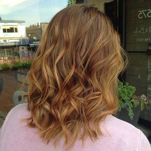 caramel hair color for medium length hair