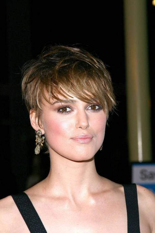 Keira Knightley short edgy hairstyle