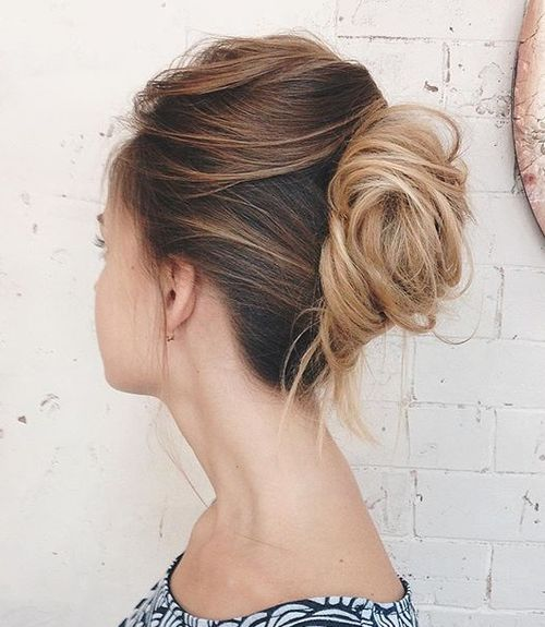 french twist for tousled hair